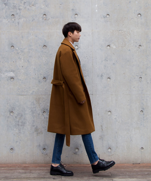 Melany double Coat #코트 (camel)