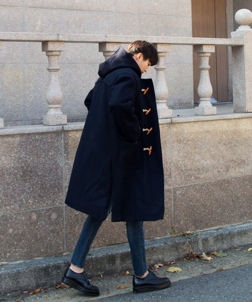 Wool duffel Coat #떡볶이코트 (navy)