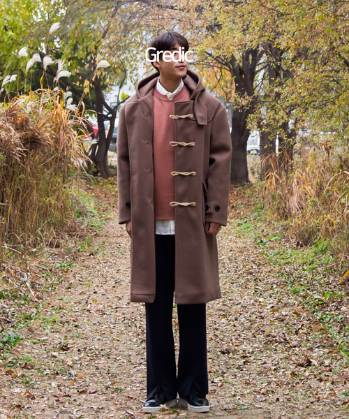 Wool duffel Coat #떡볶이코트 (brown)